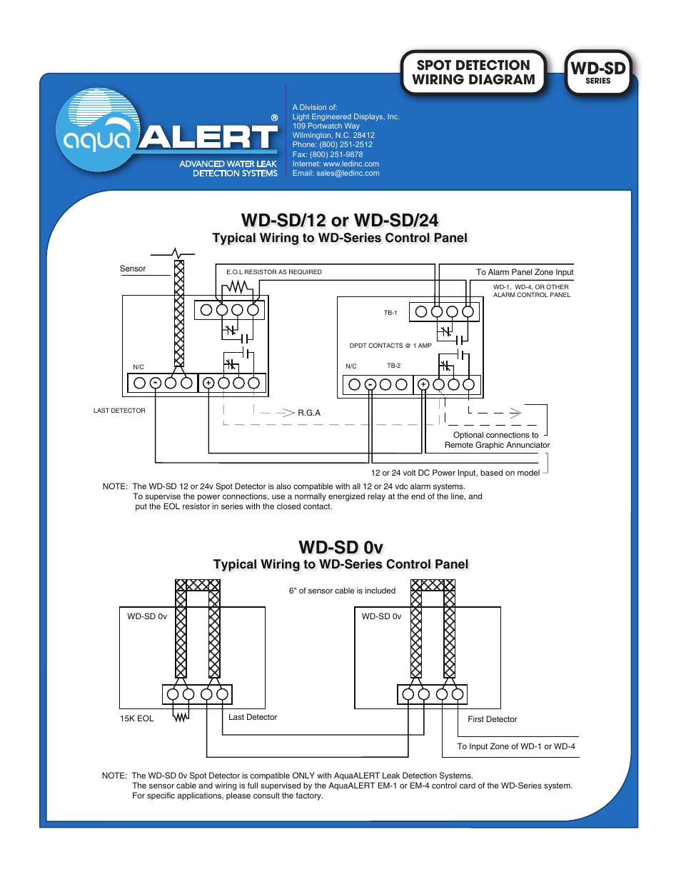 Light Engineered Displays Wd-sd Series