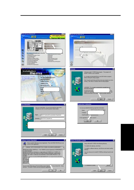 Software setup, 3 yamaha s-yxg50 | Asus 810E User Manual