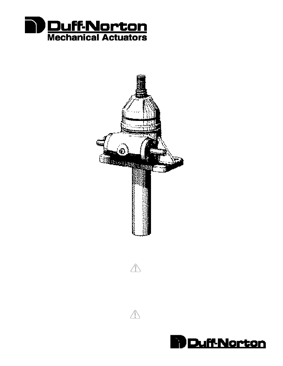 Duff Norton Actuator Wiring Diagram Library Ball Screw Translating User Manual 12 Pages