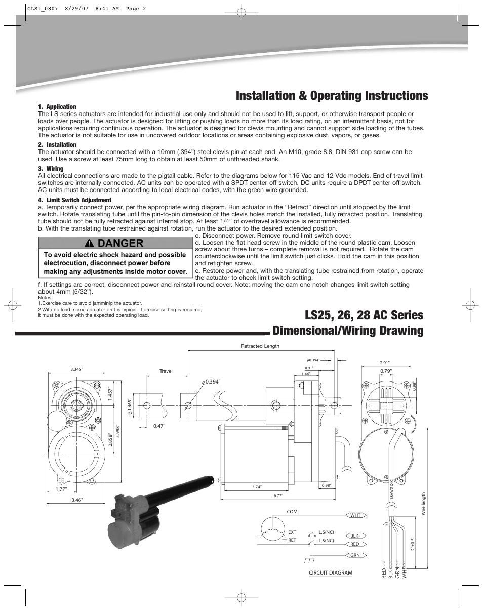 Installation   operating instructions      Duff      Norton    LS