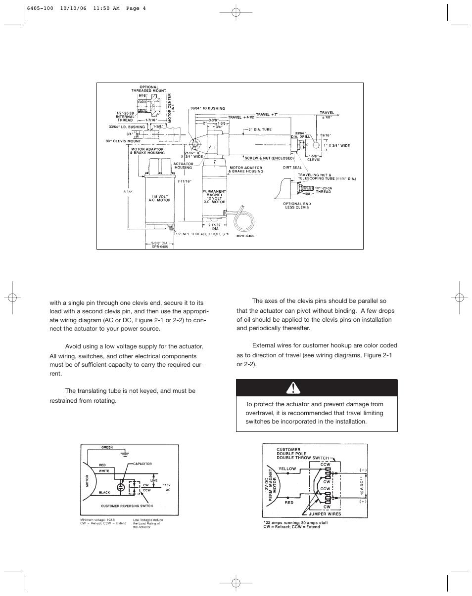 duff norton actuator wiring diagram caution    duff       norton    sk6405 100 user manual page 4 12  caution    duff       norton    sk6405 100 user manual page 4 12