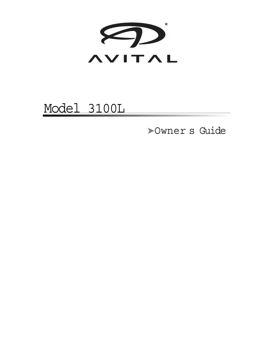 avital 3100l user manual 24 pages rh manualsdir com avital 3100 programming manual avital 3100l manual