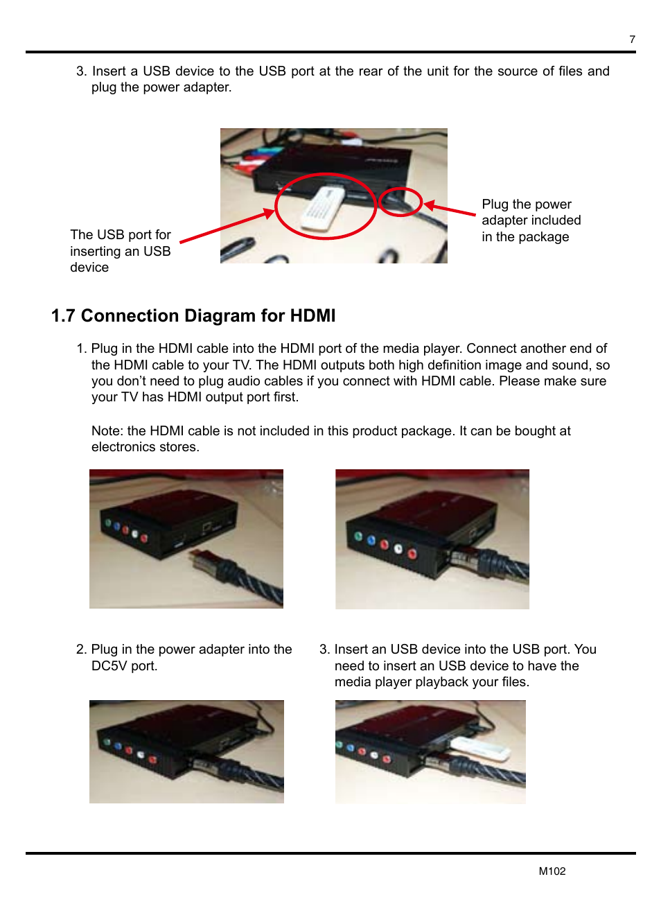 7 Connection Diagram For Hdmi Kworld M102 User Manual Page 20 Connections Diagrams