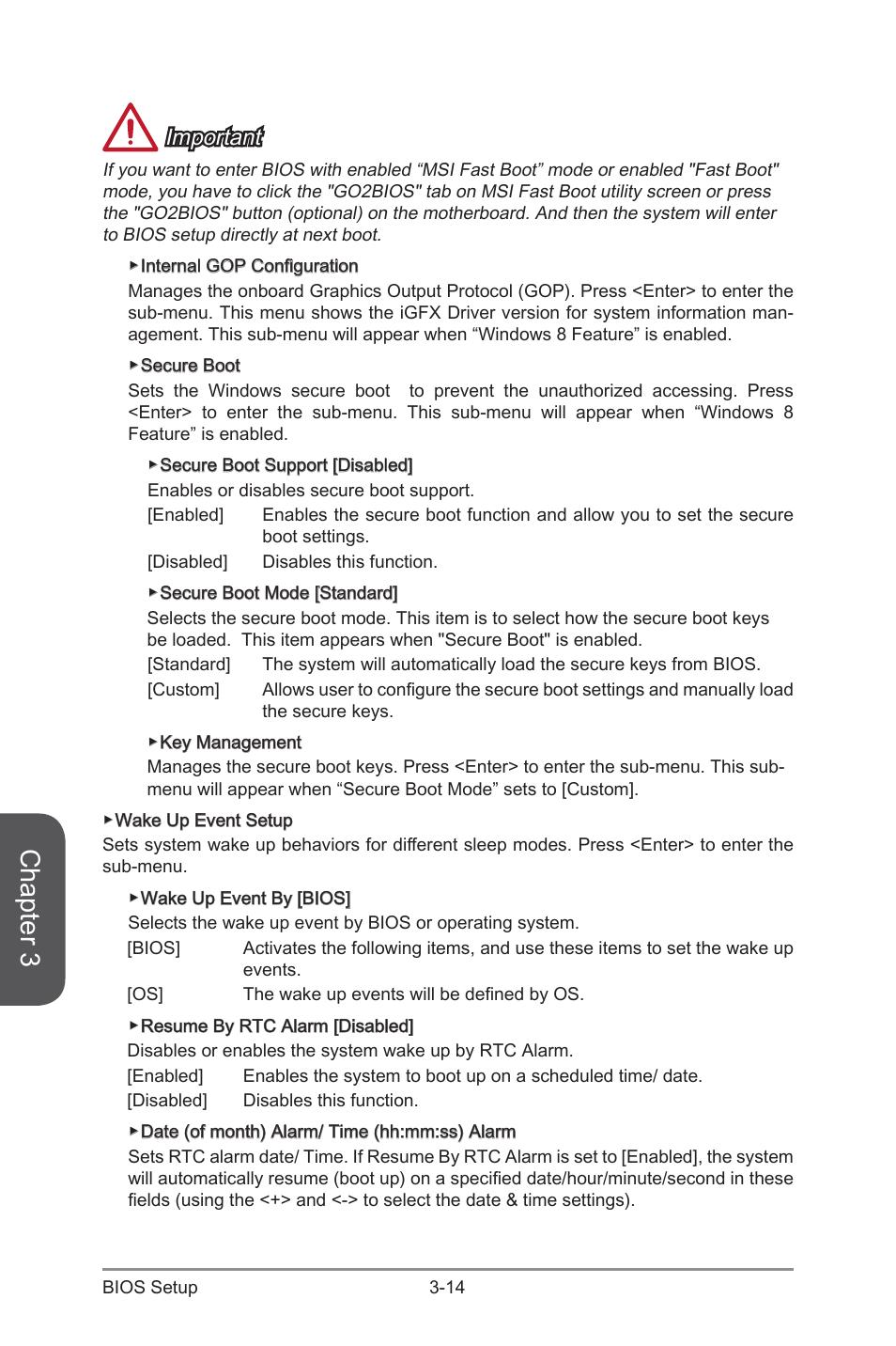 Bios resume by rtsalarm