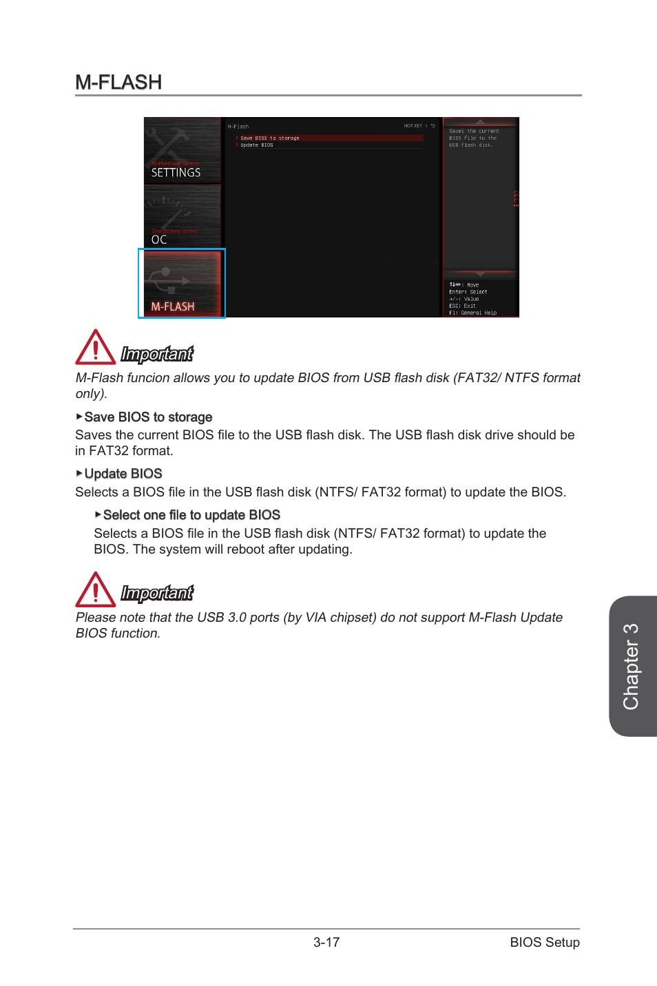 M-flash -17, Chapter 3, M-flash | MSI 970 GAMING User Manual