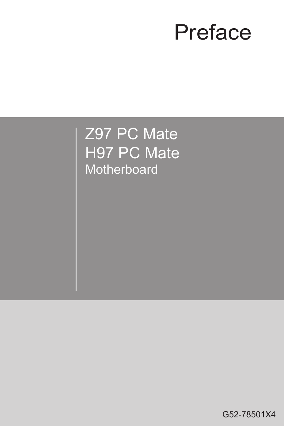 MSI Z97 PC MATE User Manual | 102 pages