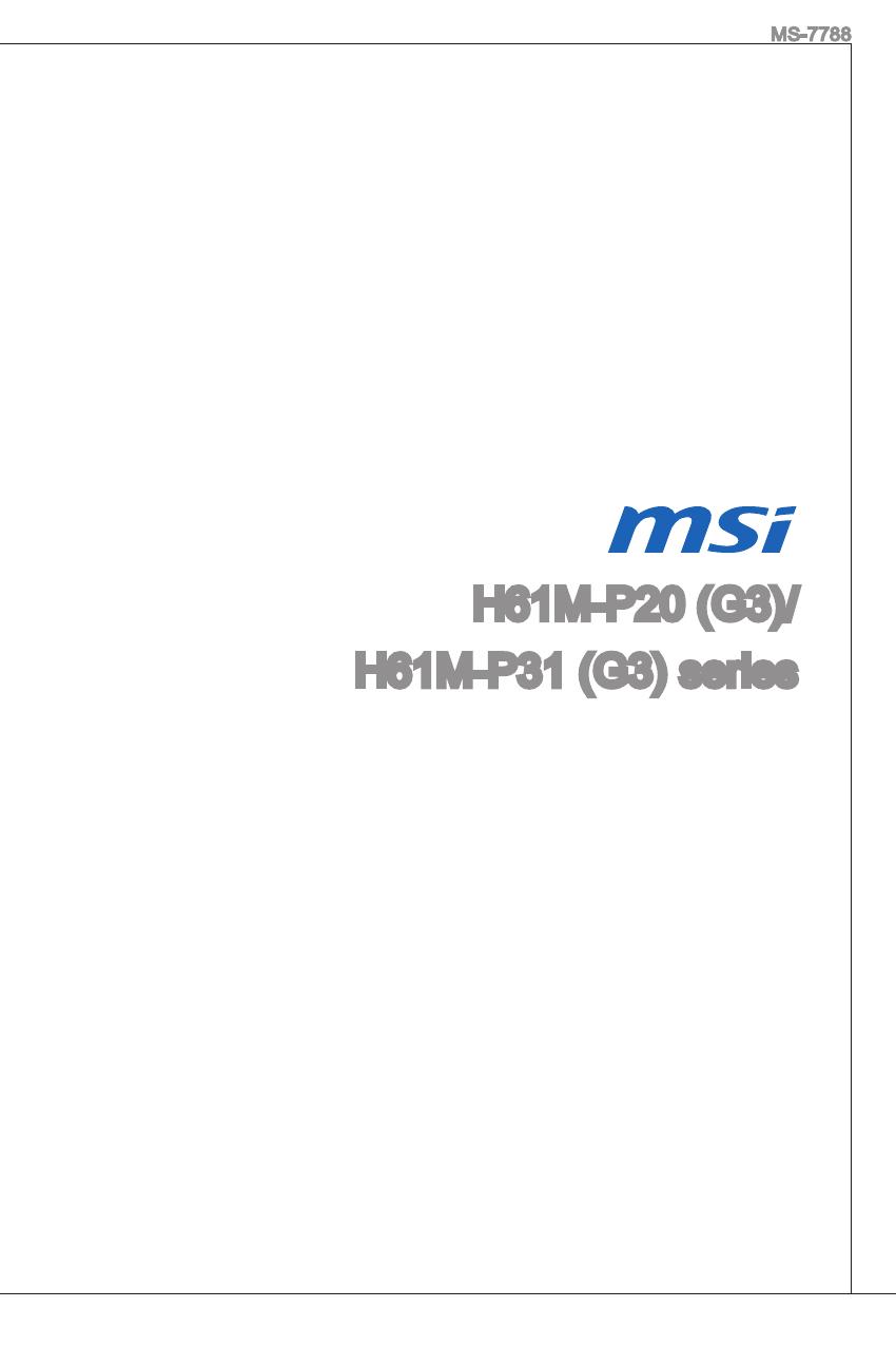 Msi H61m S20 G3 драйвера