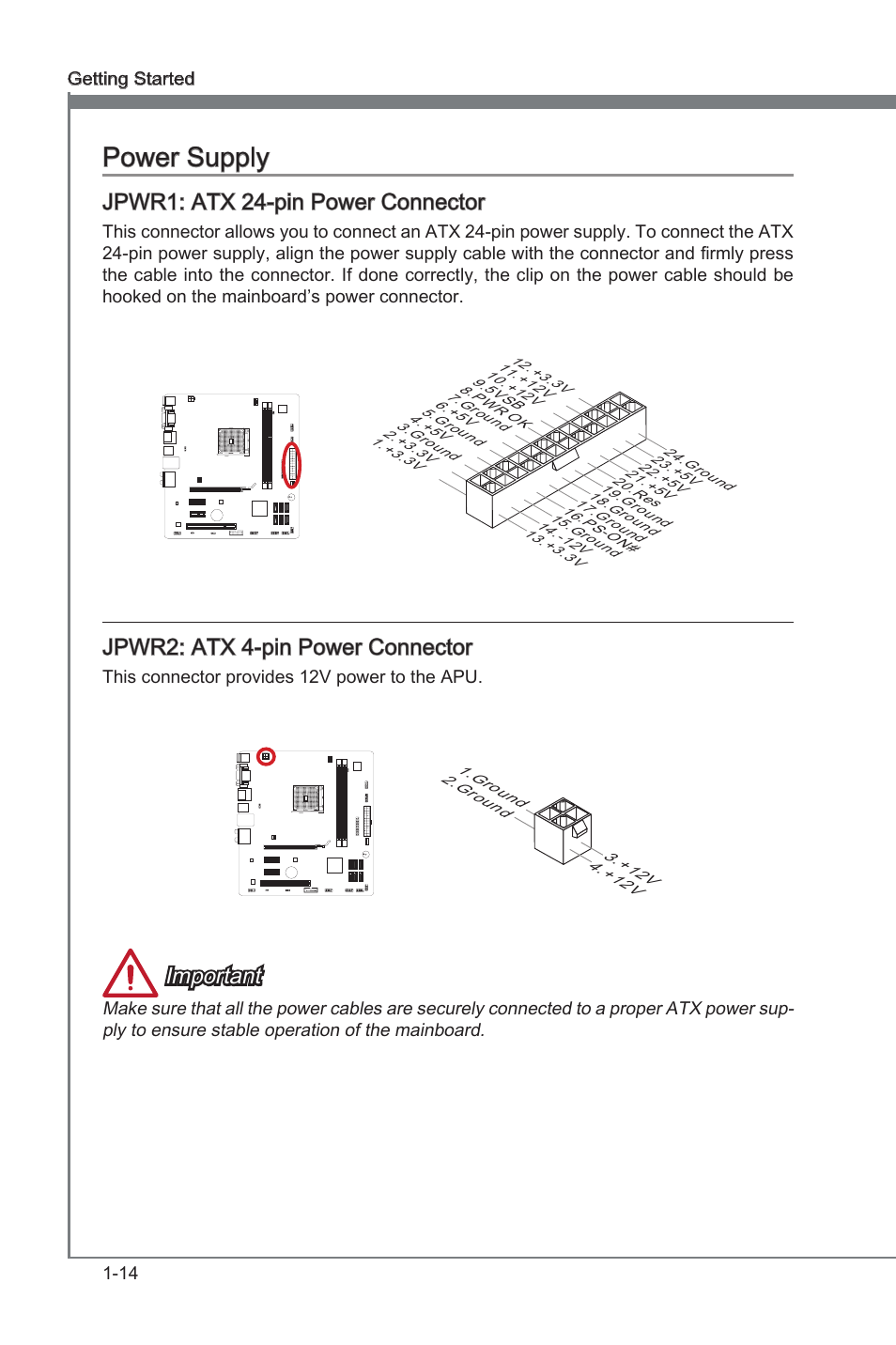 Contemporary Atx Power Connector Pinout Ideas - Electrical and ...