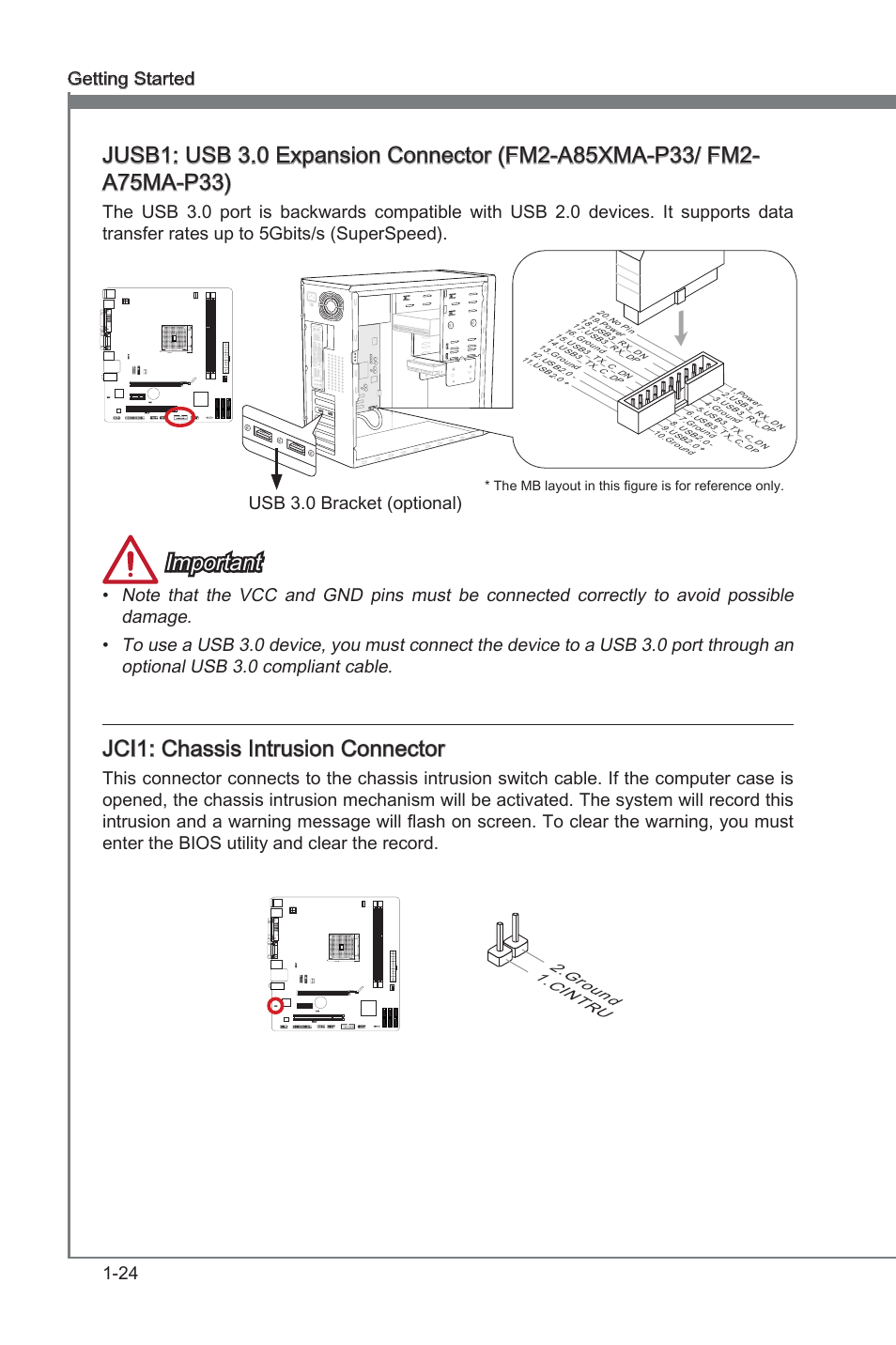 Jci1 Chassis Intrusion Connector Chass S Intrus On Nikon D40 Usb Cable Schematic Msi Fm2 A75ma P33 User Manual Page 36 84