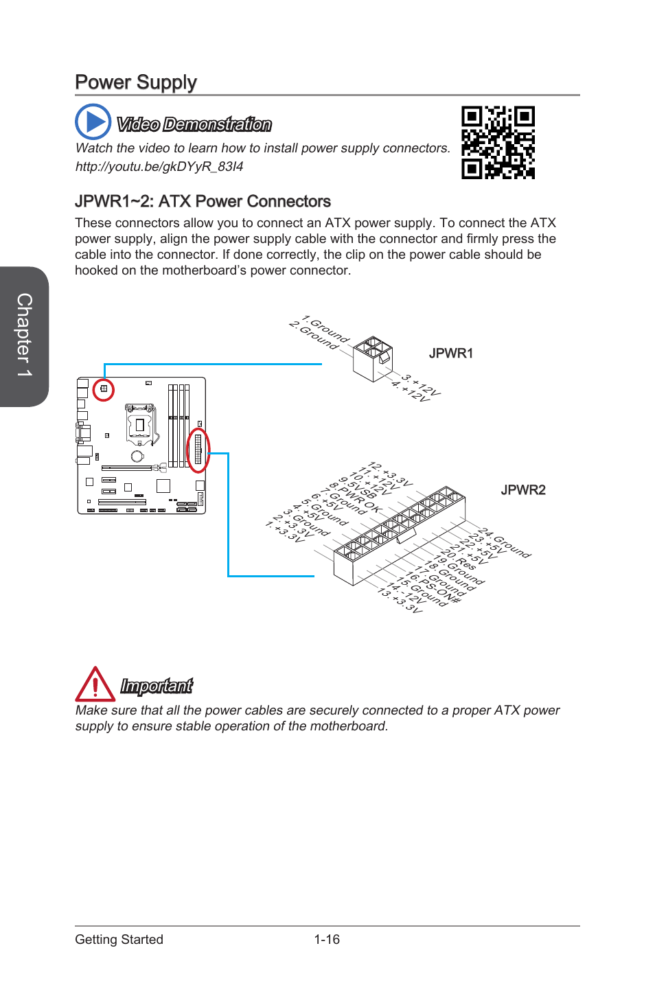 power supply jpwr1 2 atx power connectors power supply 16 msi rh manualsdir com atx power supply manual atx power supply manual