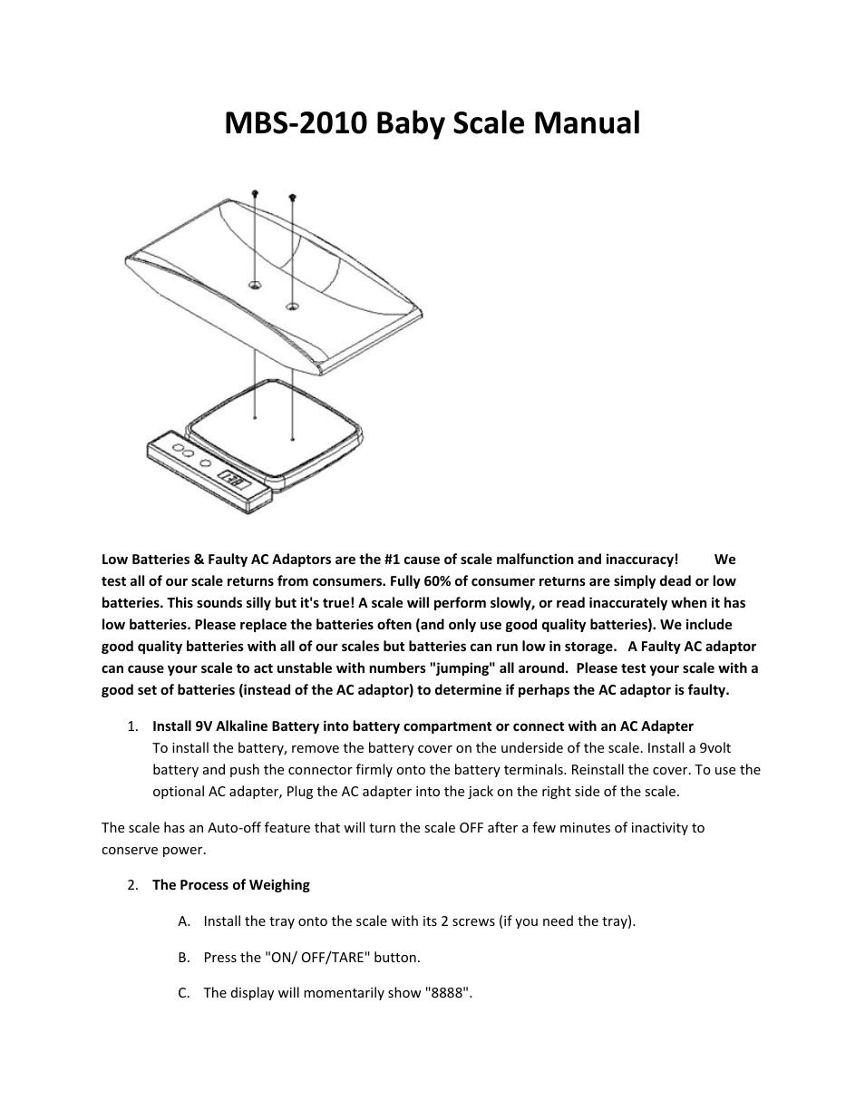 Myweigh Mbs 2010 User Manual 3 Pages Phone Jack Wiring Diagram