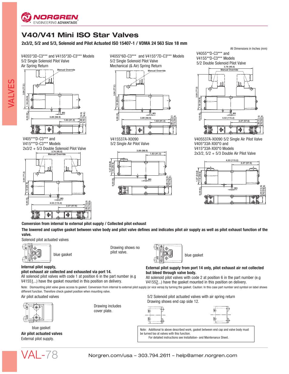... Array - val 78 val ves v40 v41 mini iso star valves norgren v41 mini rh