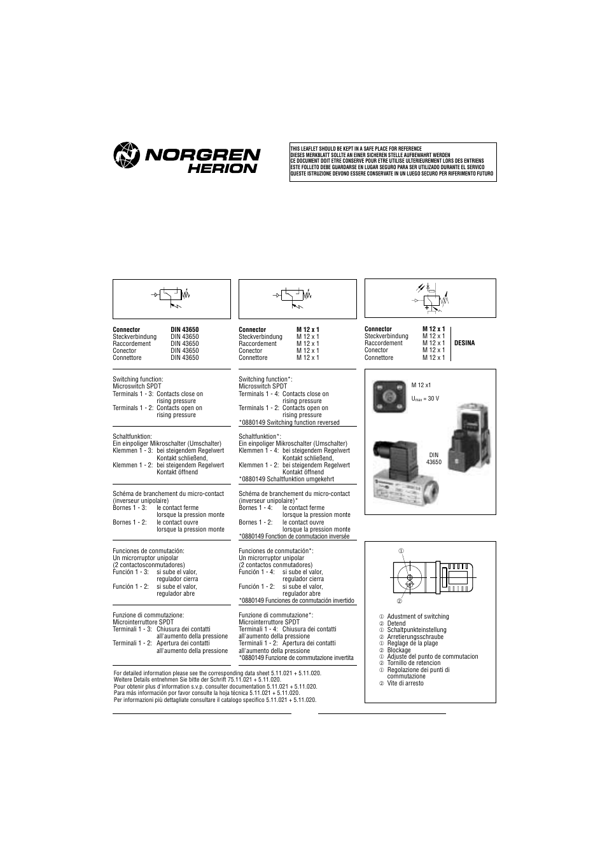 norgren 18d pressure switch installation instructions user