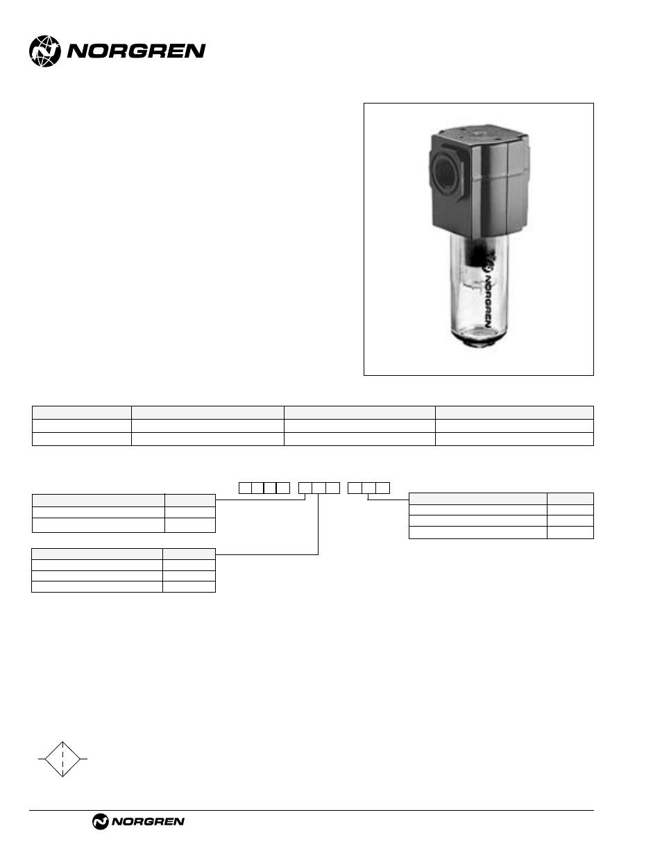 F72v excelon oil vapor removal filter, F72v | Norgren Filter Contents User  Manual | Page