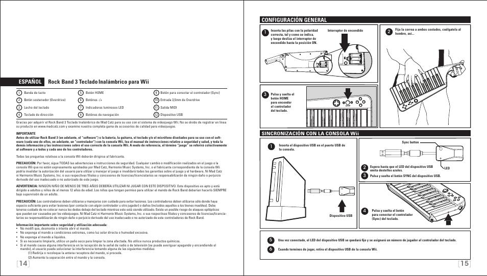 espa ol rock band 3 teclado inal mbrico para wii configuraci n rh manualsdir com Wii Online Manual Wii Instruction Manual
