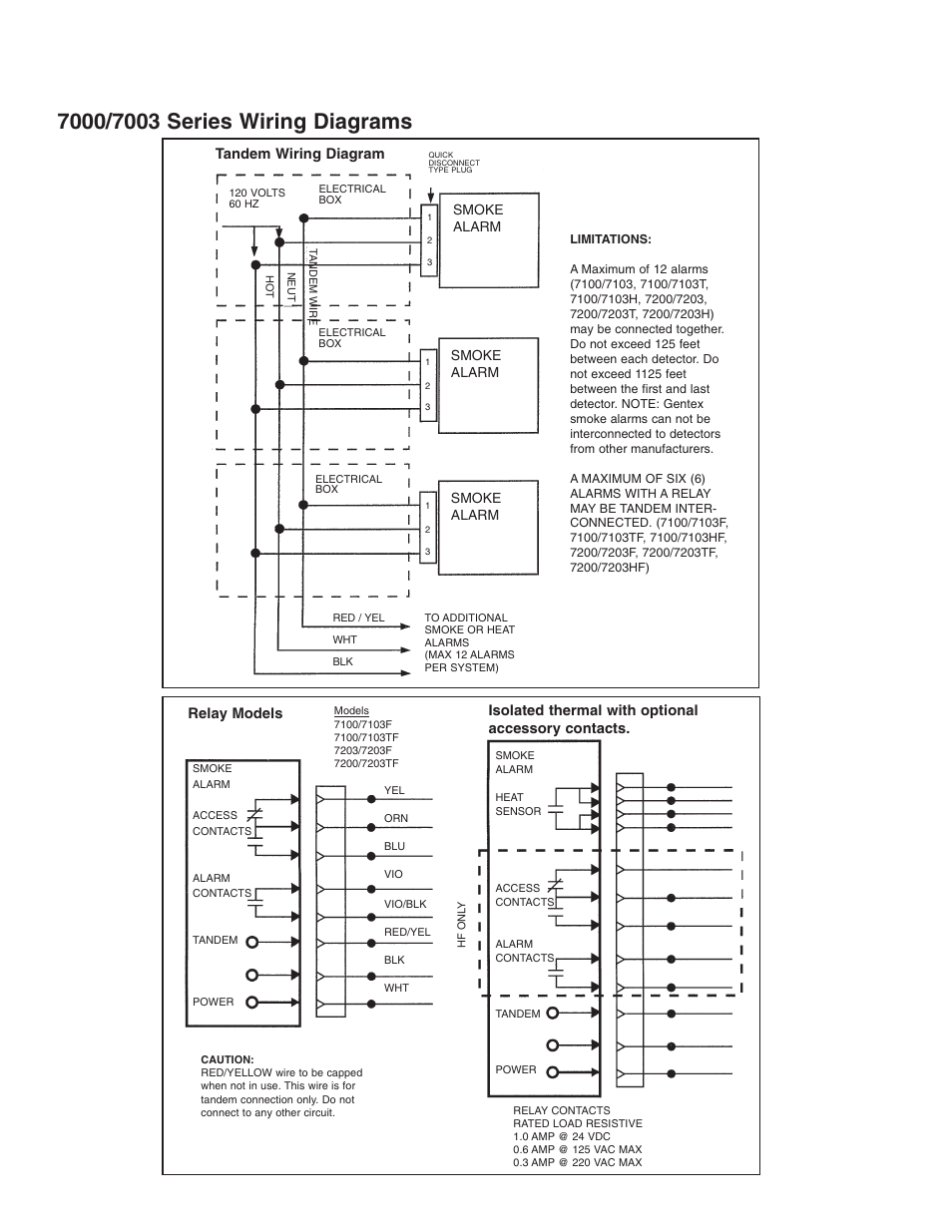 Gentex Wiring Diagram Diagrams 177 Mirror Tandem Relay Models Isolated Thermal Smoke Alarm