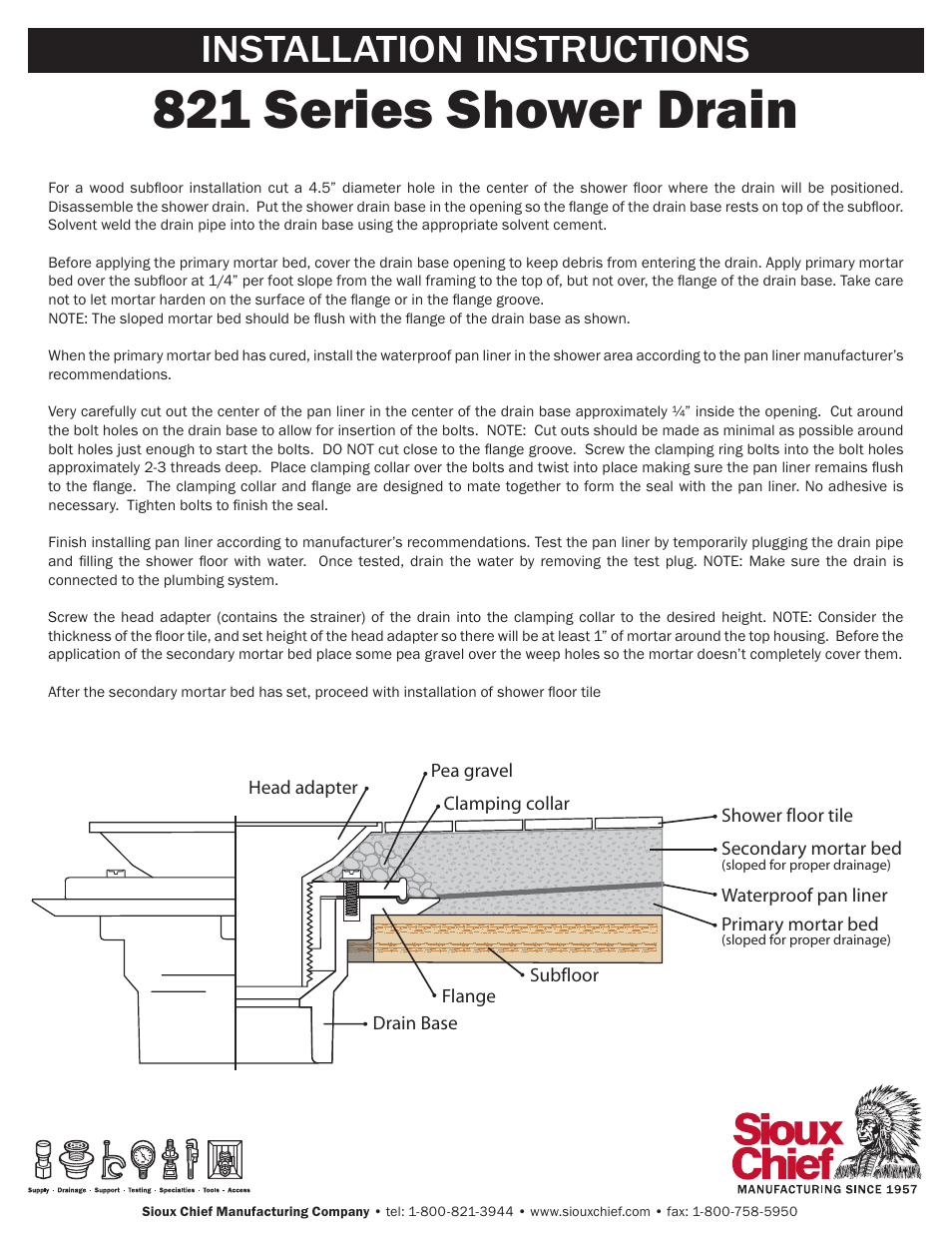 How To Install A Sioux Chief Shower Drain Image Cabinets And