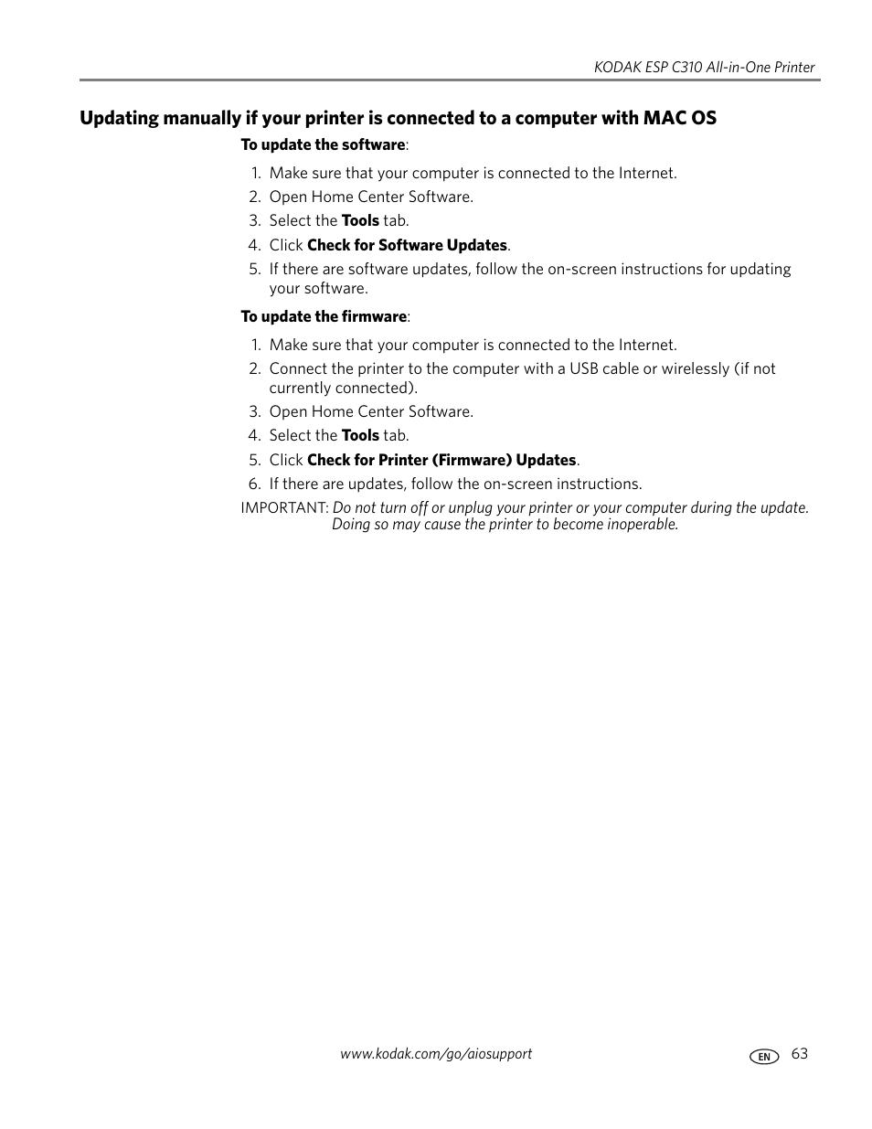kodak esp c310 user manual page 69 94 rh manualsdir com