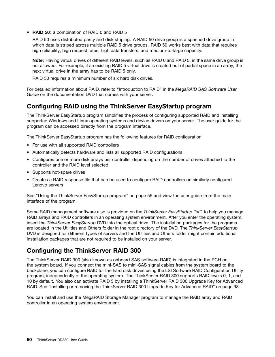 Configuring the thinkserver raid 300   Lenovo ThinkServer