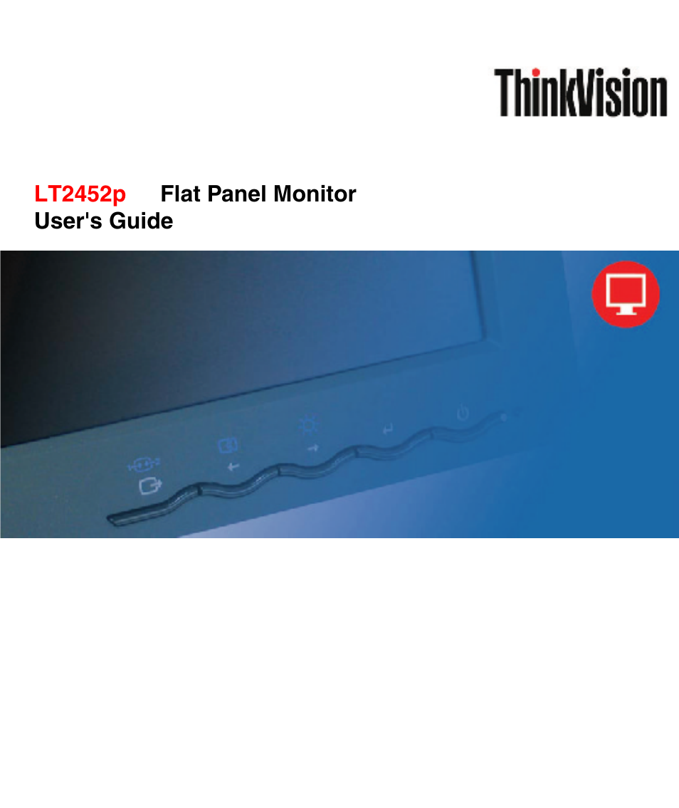 lenovo thinkvision lt2452p wide 24in lcd monitor user manual 42 pages rh manualsdir com Lenovo Keyboard User Guide Lenovo ThinkCentre