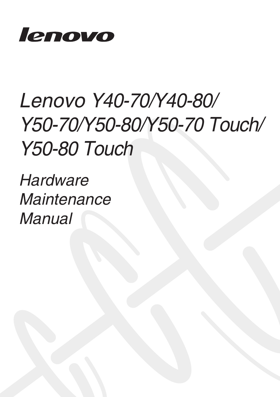 Lenovo Y50-70 User Manual | 106 pages | Also for: Y40-70, Y50-70