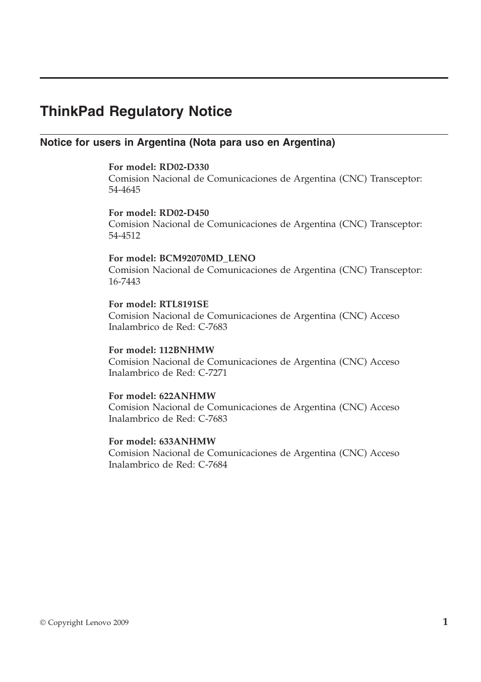 Lenovo ThinkPad T510 User Manual   12 pages