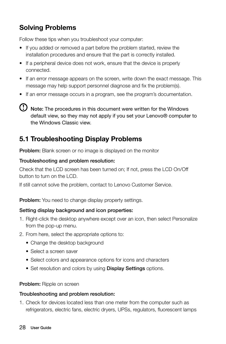 Lenovo Screen Resolution Problem