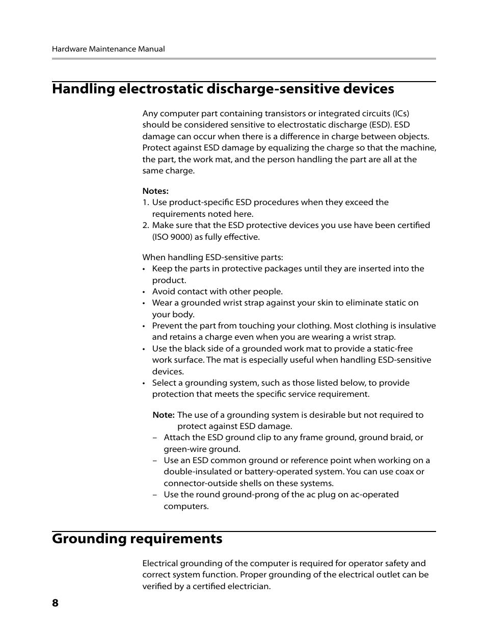 Handling electrostatic discharge-sensitive devices, Grounding ...