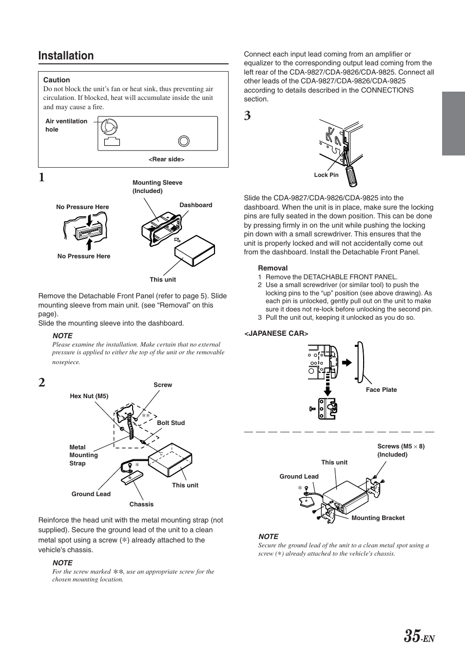 installation alpine cda 9826 user manual page 37 42 rh manualsdir com Alpine Cda- 7865 alpine cda 9856 manual
