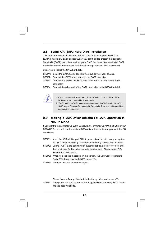 ASRock 939Dual-SATA2 User Manual | Page 20 / 40