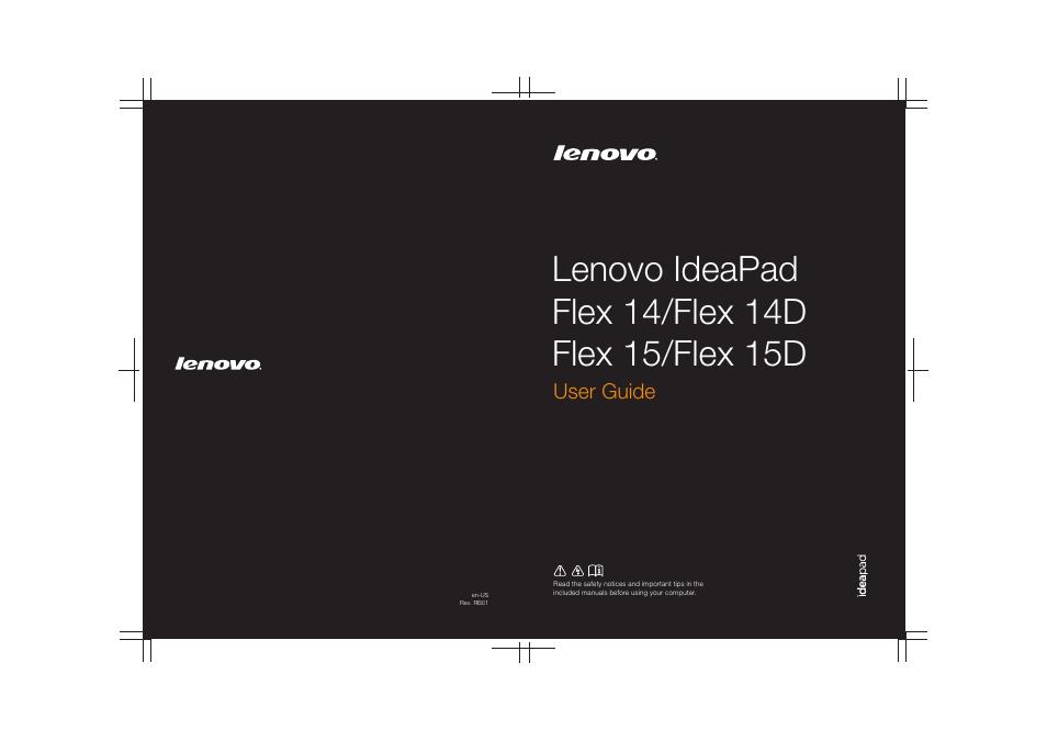 Lenovo Ideapad Flex 14d Notebook User Manual 40 Pages border=