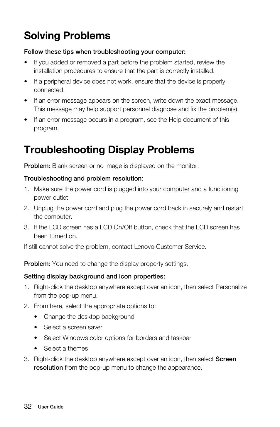 troubleshooting display problems solving problems lenovo b50 30 rh manualsdir com lenovo tablet troubleshooting guide lenovo phone troubleshooting guide
