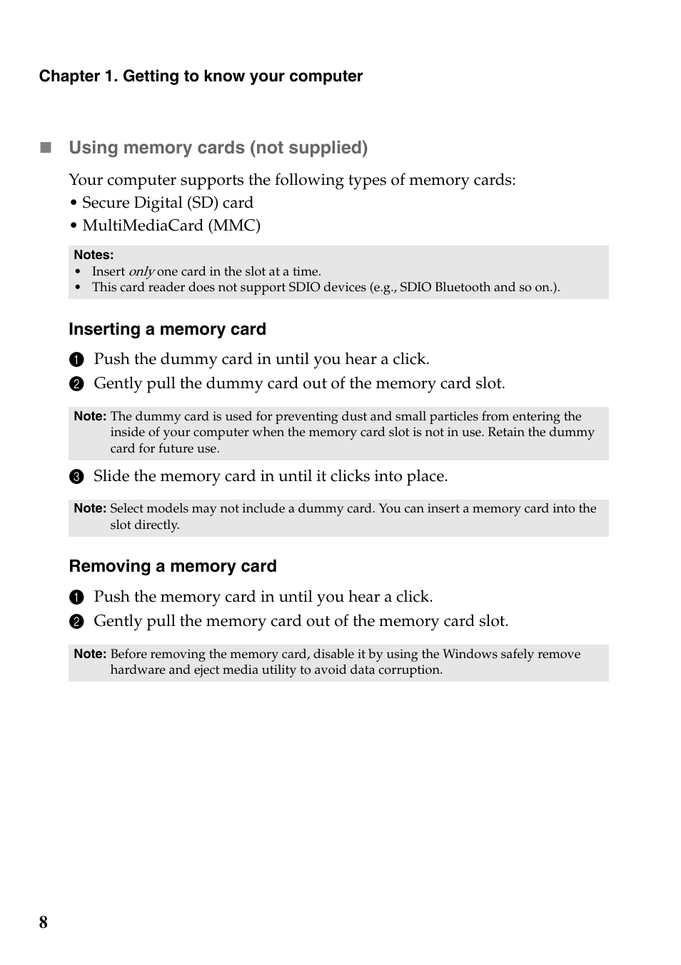 Lenovo G700 Notebook User Manual | Page 12 / 46 | Also for: G710