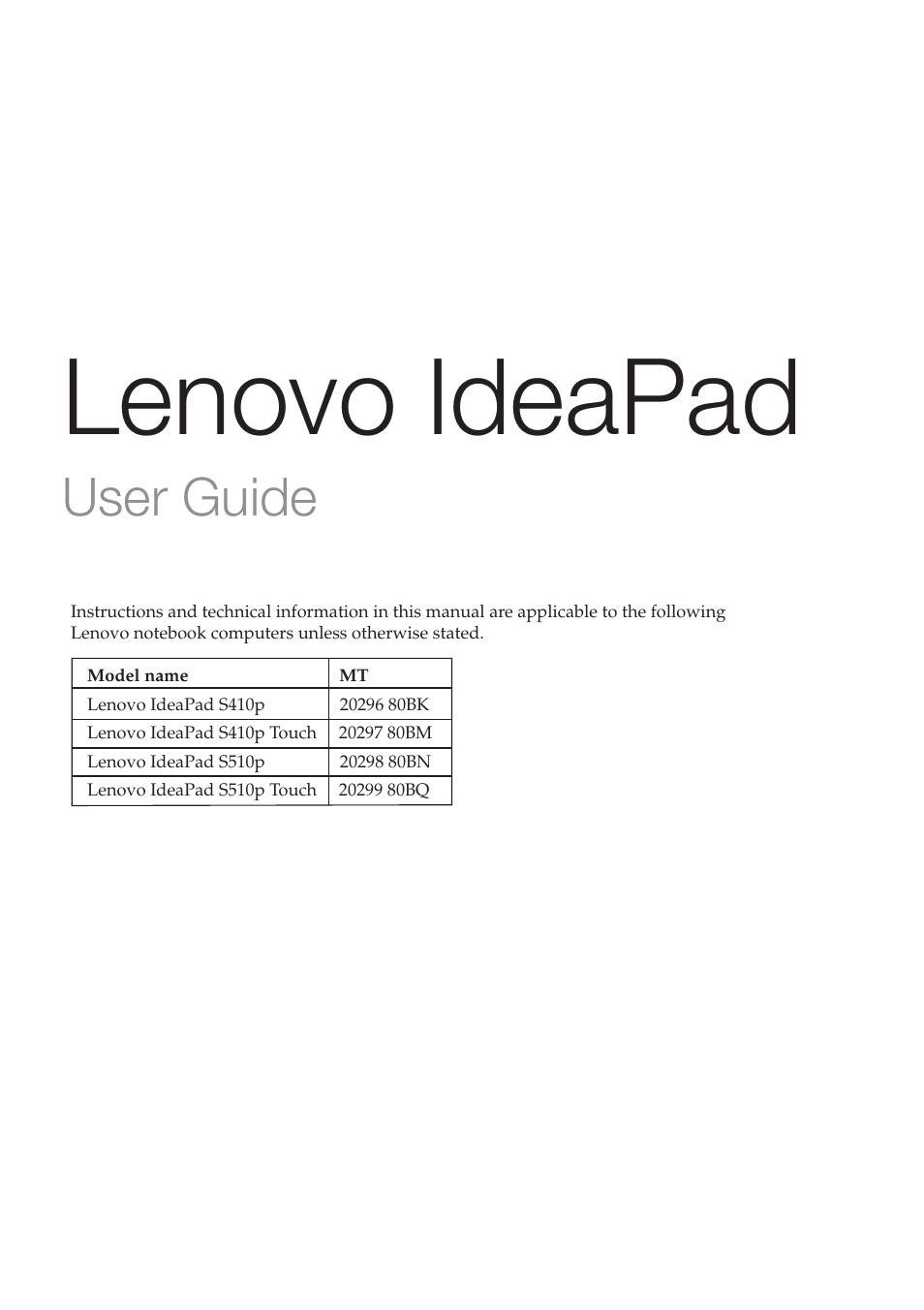 notebook manual user guide