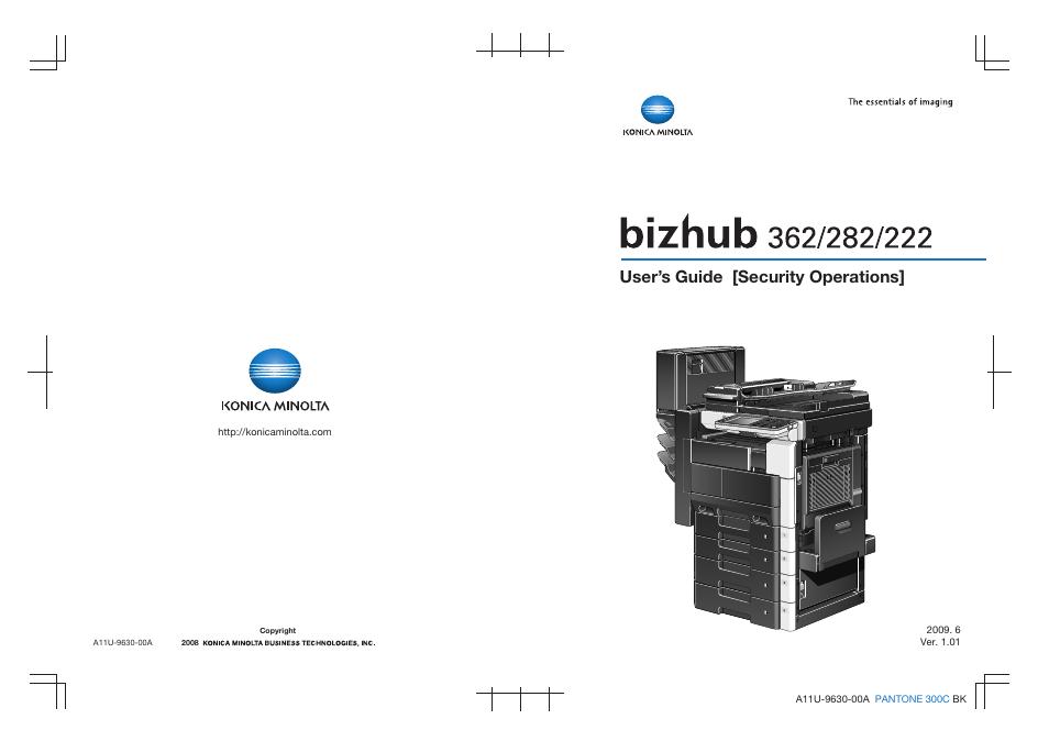 konica minolta bizhub 282 user manual 90 pages also for bizhub rh manualsdir com konica minolta bizhub 282 manual Bizhub 362 Drivers