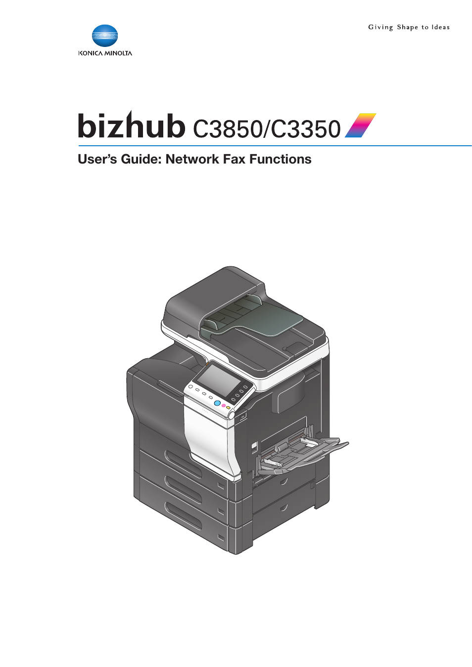 Konica Minolta bizhub C3350 User Manual | 42 pages | Also for: bizhub C3850