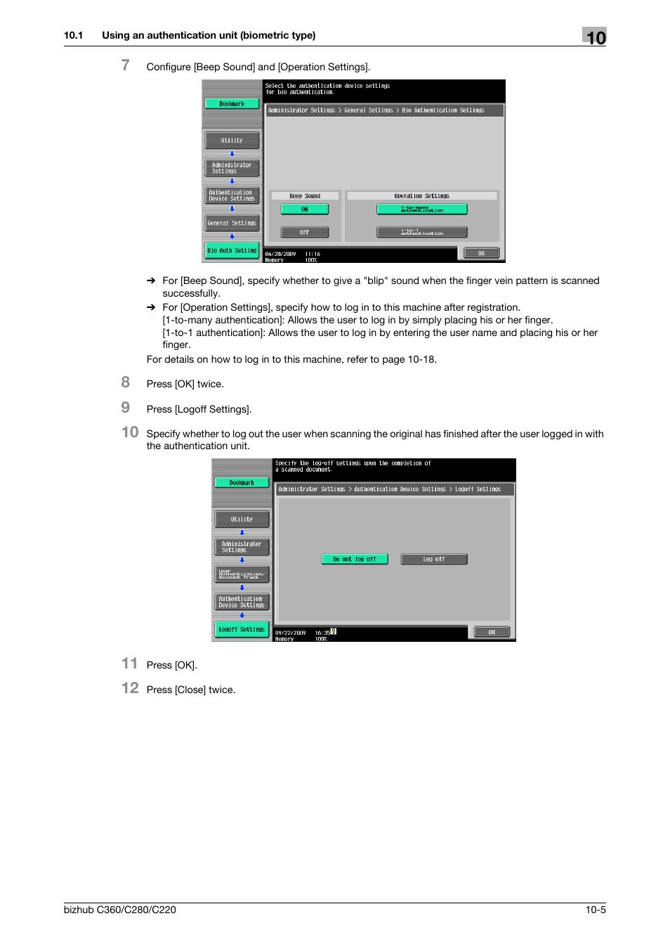 Konica Minolta BIZHUB C360 User Manual | Page 219 / 285