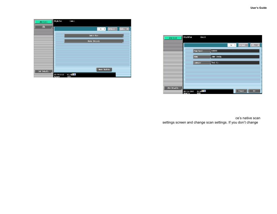 sending faxes konica minolta opentext rightfax user manual page
