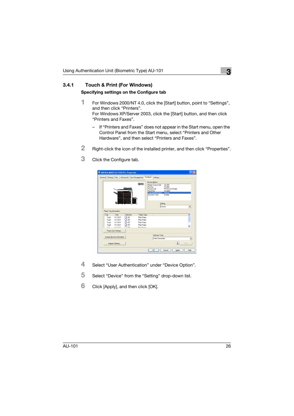 1 touch & print (for windows), Touch & print (for windows)