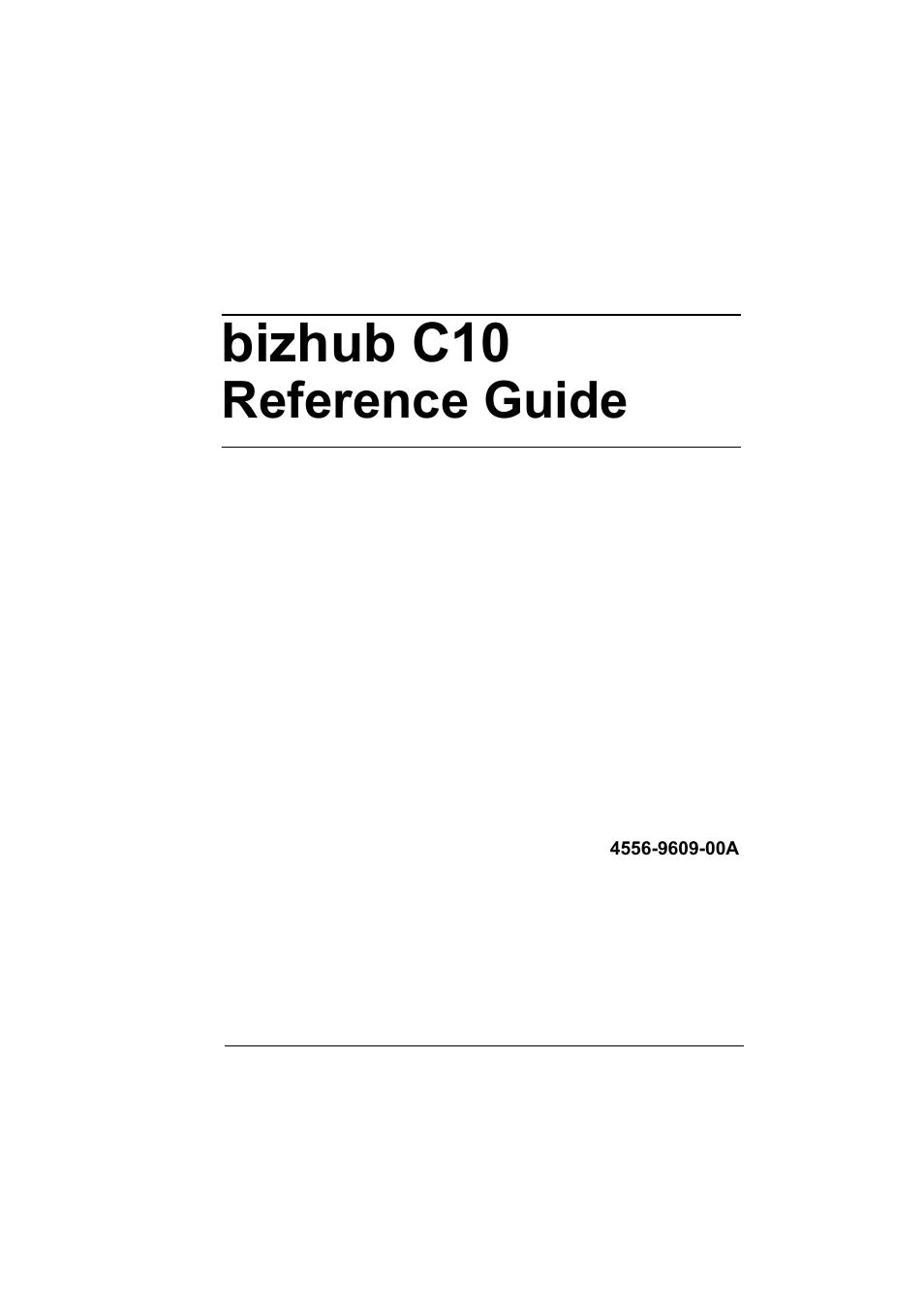 Konica Minolta bizhub C10X User Manual | 198 pages | Also for: bizhub C10