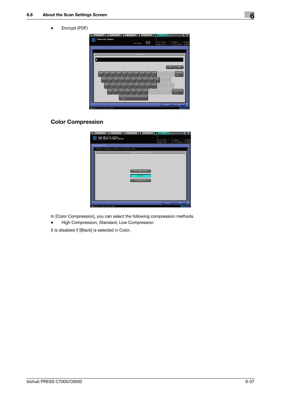 Color compression, P  6-37 | Konica Minolta IC-413 User