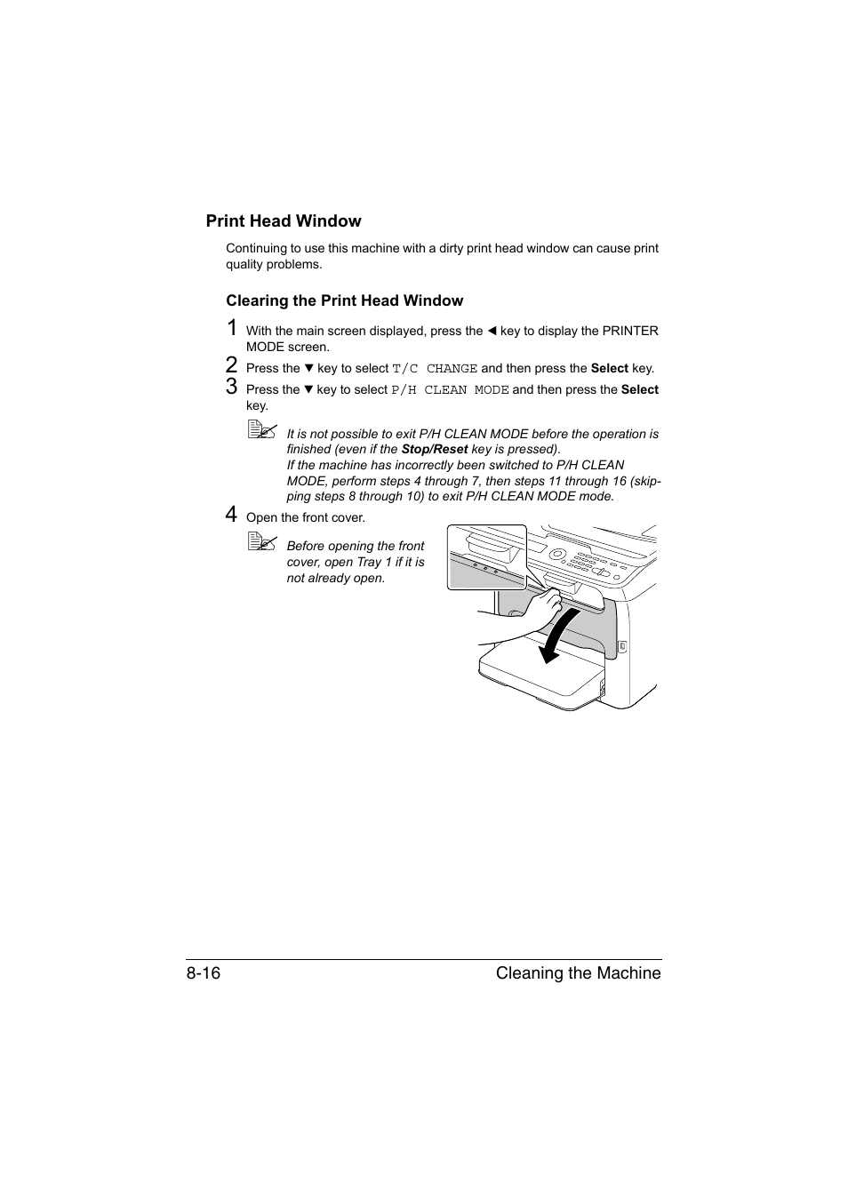print head window clearing the print head window print head window rh manualsdir com Instruction Manual Instruction Manual