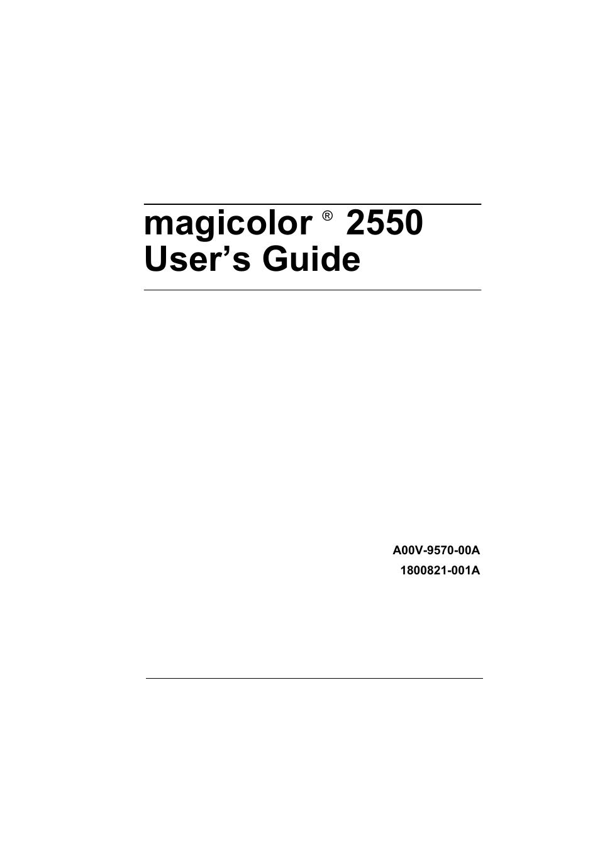 Konica minolta magicolor 2500w 2530dl 2550 dn sm service manual.