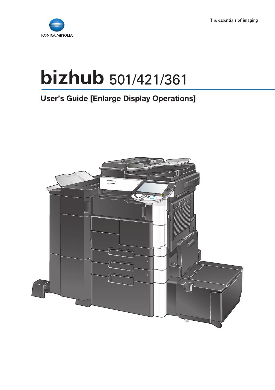 konica minolta bizhub 421 user manual 103 pages also for bizhub rh manualsdir com Bizhub 360 Bizhub 361 User Guide