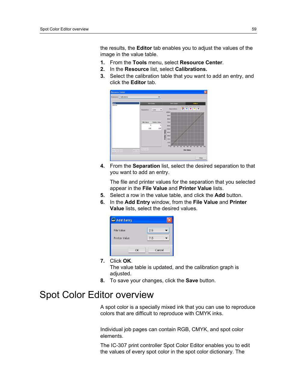 Spot color editor overview | Konica Minolta bizhub PRESS
