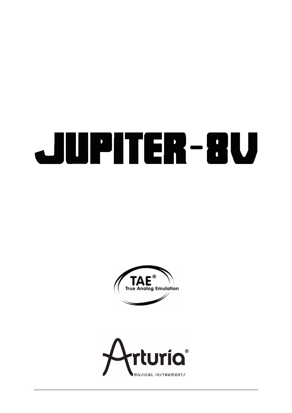 2011 Arturia Jupiter presets