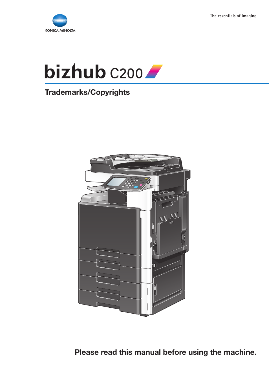 konica minolta bizhub c200 user manual 26 pages Konica Minolta Bizhub 250 Copier Bizhub Printer Drivers