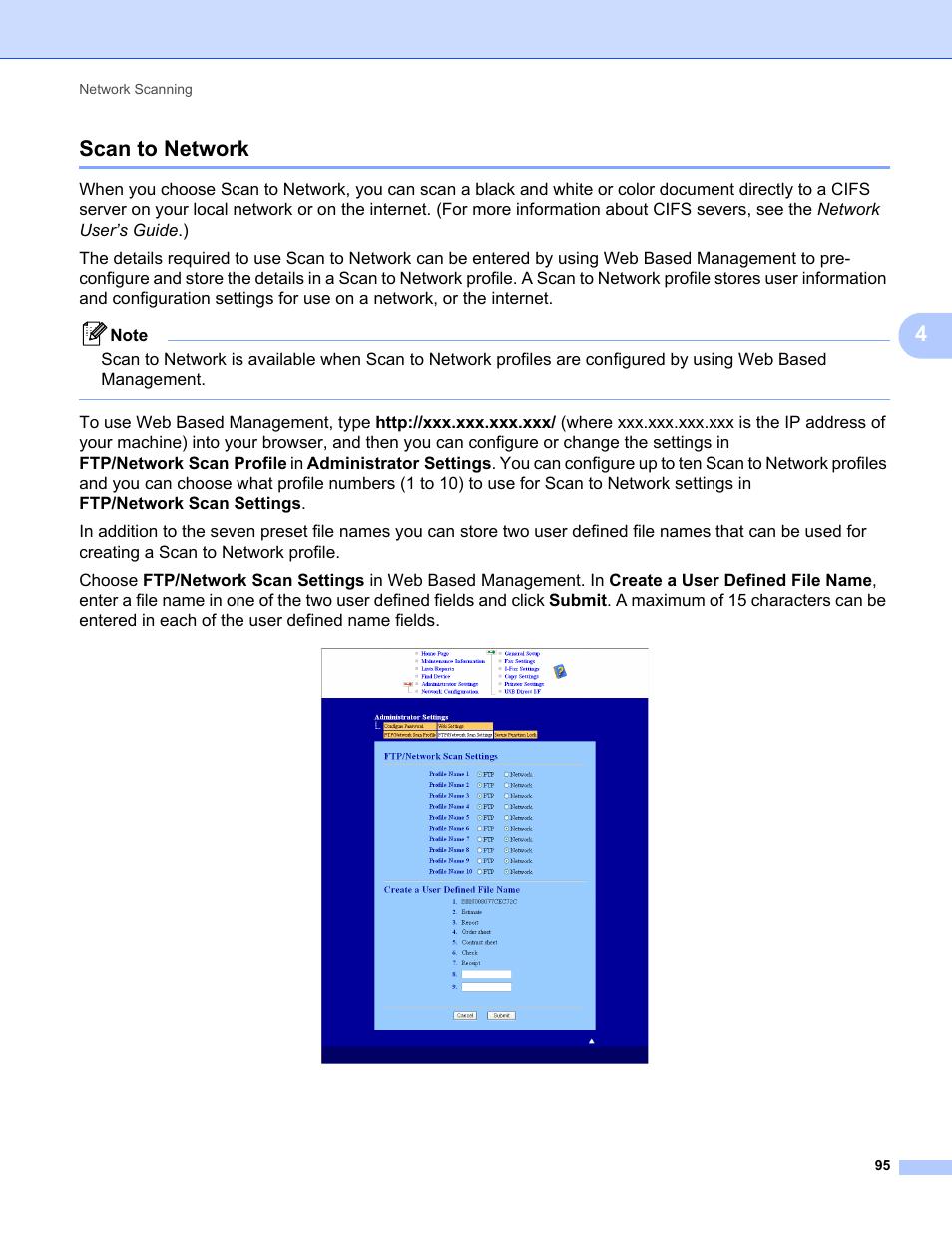 Scan to network, 4scan to network   Konica Minolta bizhub 20