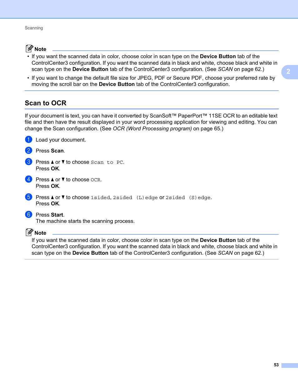 Scan to ocr | Konica Minolta bizhub 20 User Manual | Page 61