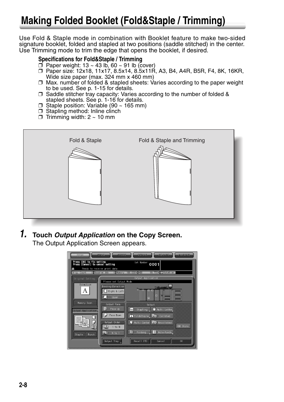 making folded booklet fold staple trimming making folded rh manualsdir com konica minolta user guide network administrator konica minolta user guide network administrator